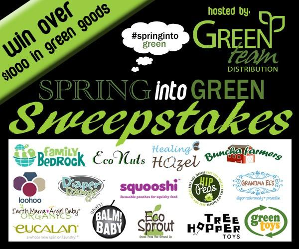 #SpringIntoGreen Sweepstakes from Green Team Distribution! ($1,000 in Prizes, US only)