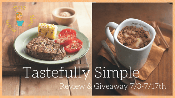 Tastefully Simple Review & Giveaway