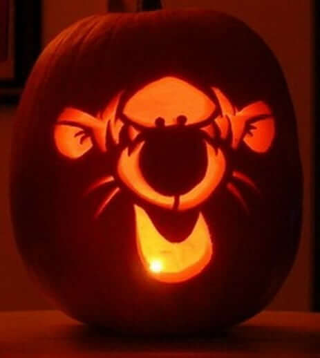 Disney Pumpkin Carving Stencils Tigger
