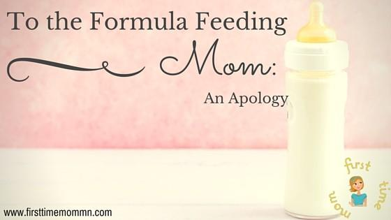 To the Formula-Feeding Mom: An apology