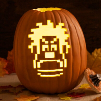 Pumpkin Carving Stencils Wreck It Ralph