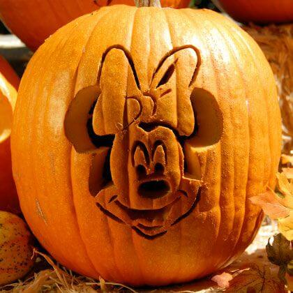 Disney Pumpkin Carving Stencils Minnie Mouse