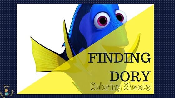 Where's Dory? Finding Dory Coloring Sheets