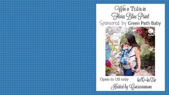 Win a Tula in Flora Blue Print sponsored by Green Path Baby & Hosted by Convservamom