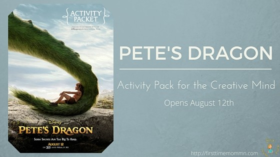 PETE'S DRAGON Activity Pack for the Creative Mind