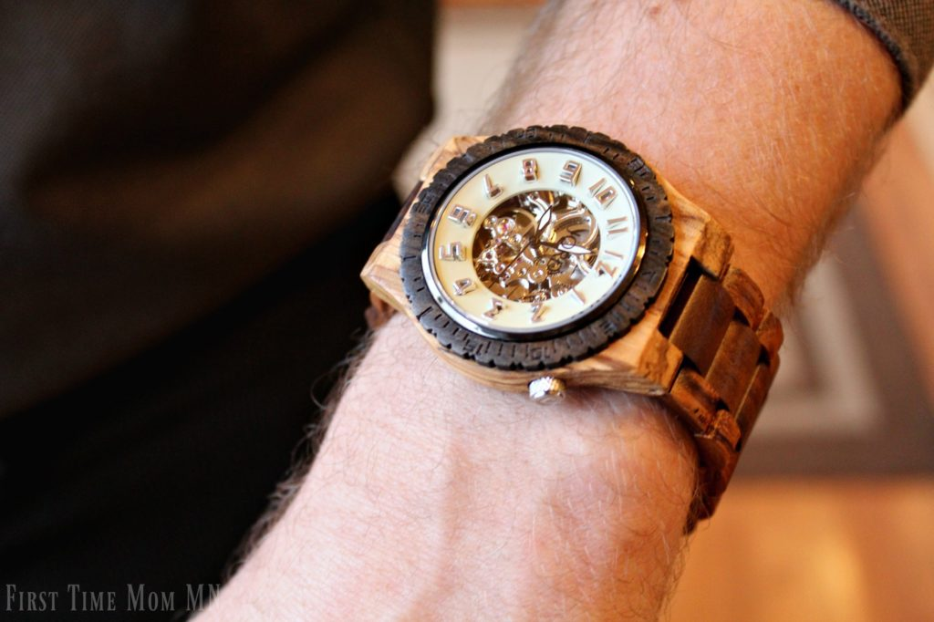 JORD Mens Watch Zebrawood