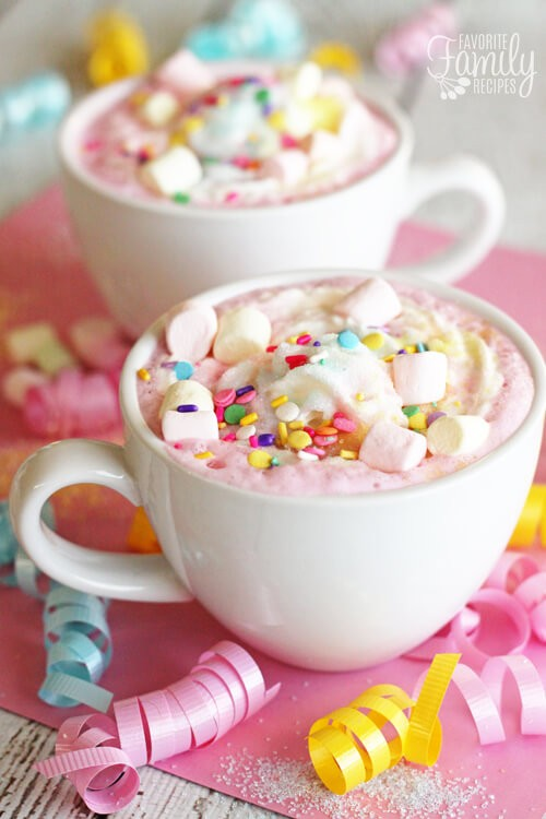 Unicorn Hot Chocolate from Favorite Family Recipes