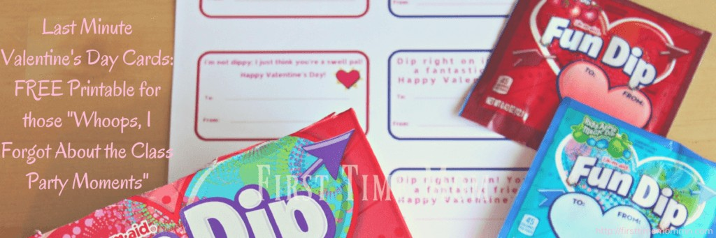 "Last Minute Valentine's Day Cards: FREE Printable for those ""Whoops, I Forgot About the Class Party Moments"""