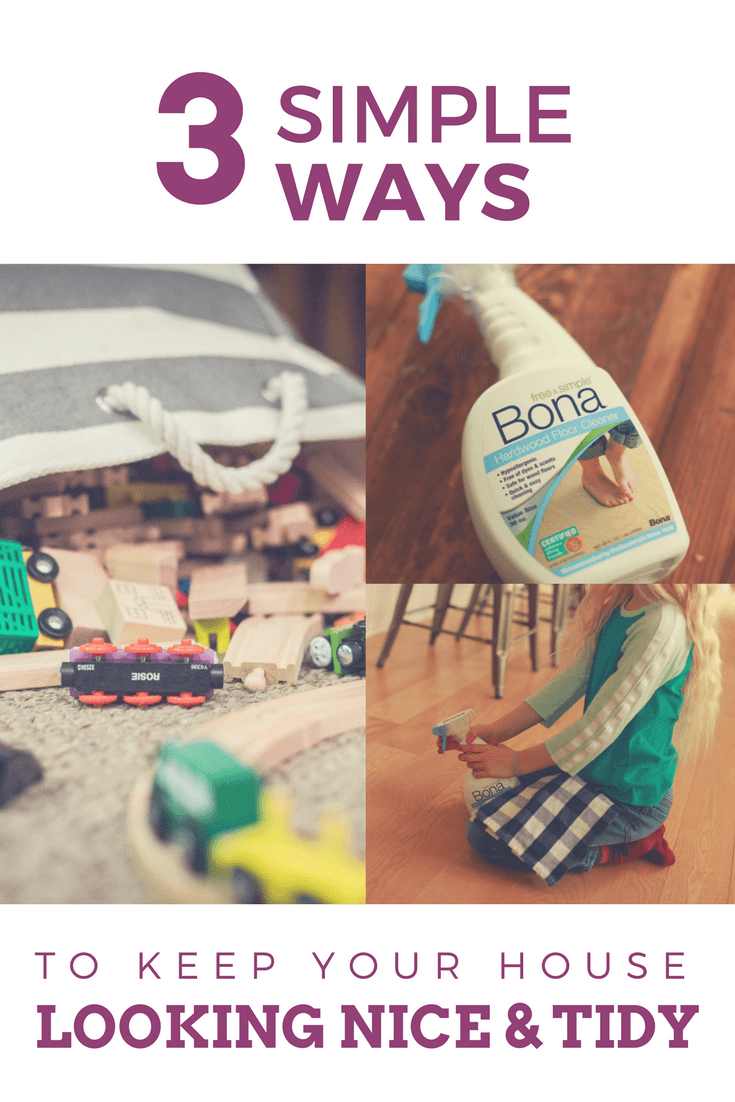 3 Simple Ways to keep your house looking nice & tidy. #ad