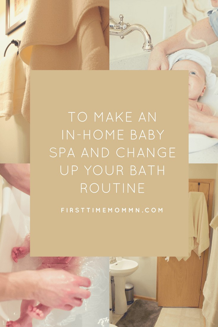 How to make an in-home baby spa and change up your bath routine. Pin now for inspiration and create your own in-home baby spa! No need to head across the ocean to Australia