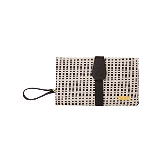JJ Cole Changing Clutch, Cream & Black