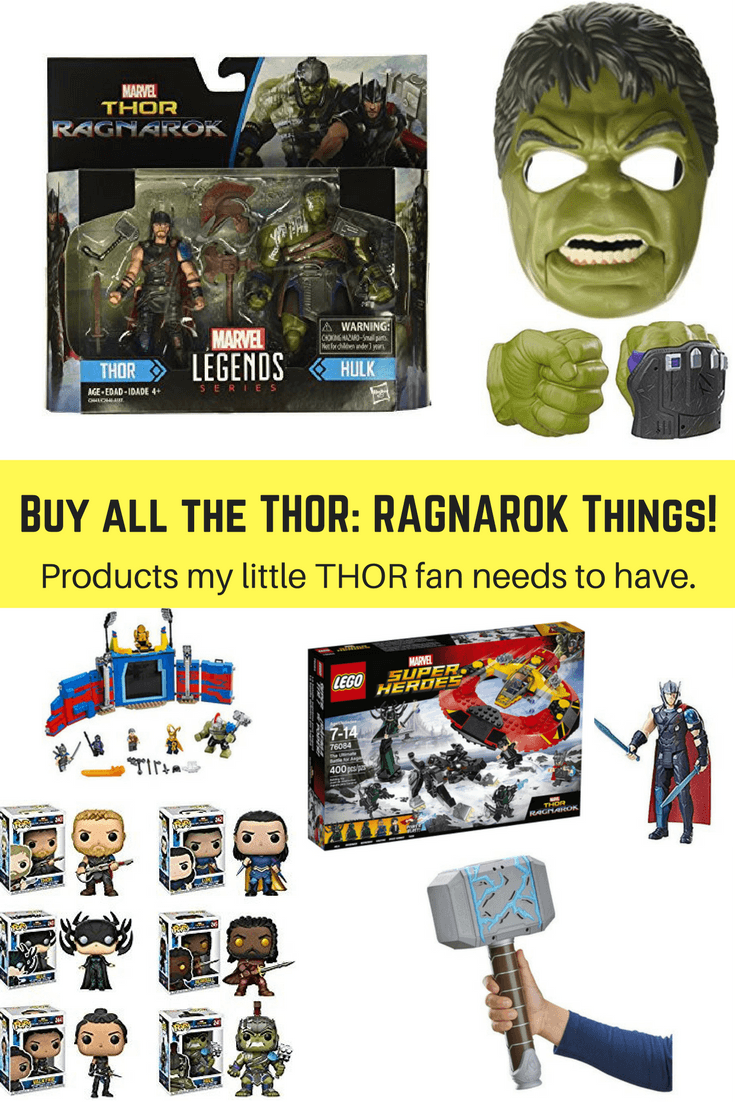 Buy all the THOR: RAGNAROK Things! Products my 9-year-old son wants to own after seeing THOR: RAGNAROK. #ThorRagnarok #ThorRagnarokEvent