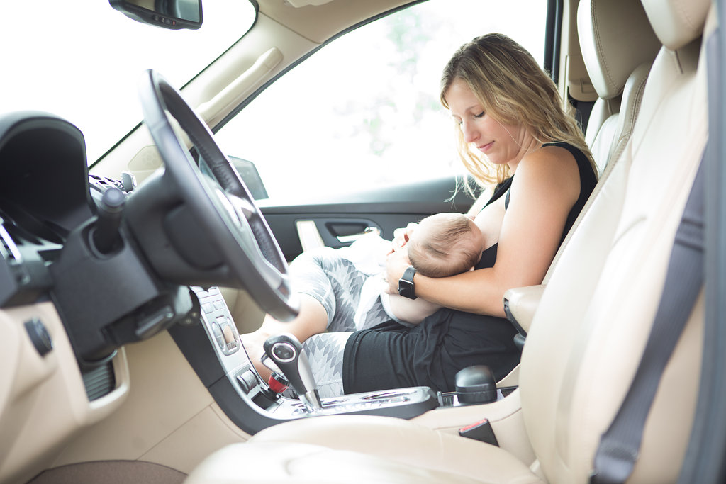 How to road trip with a newborn this holiday season.