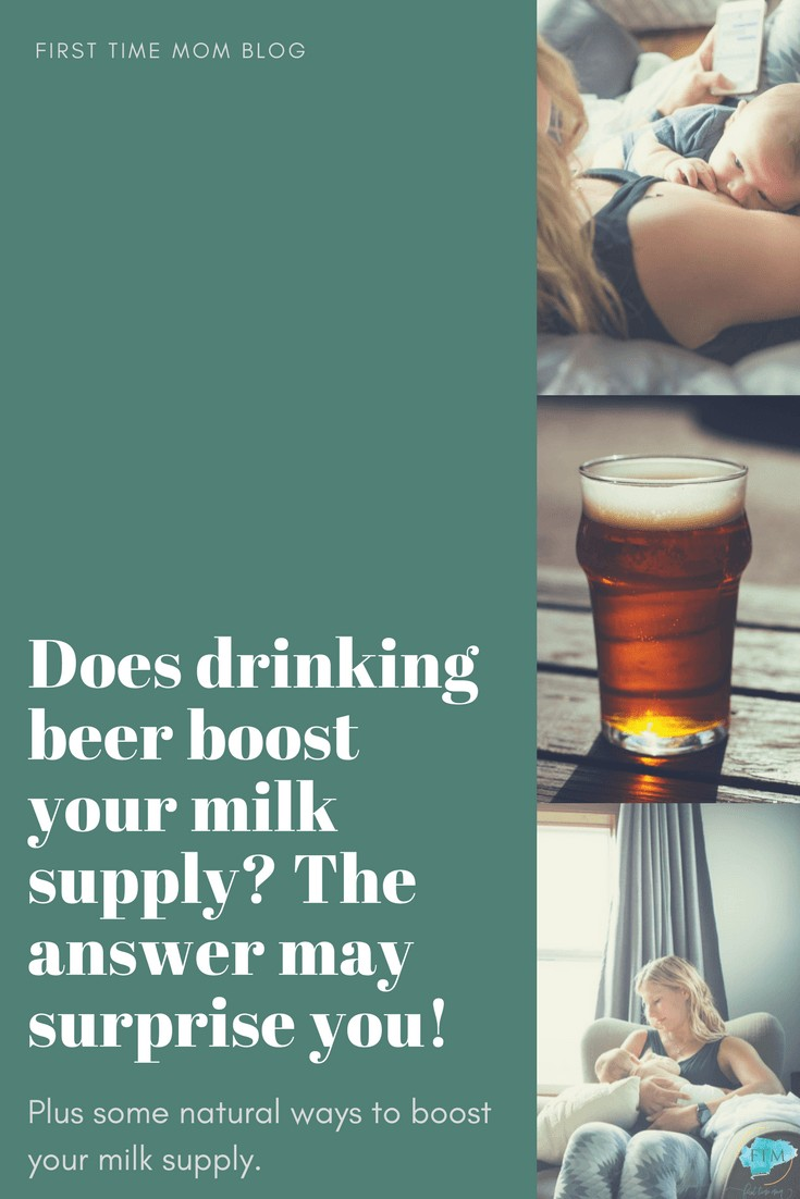 Does drinking beer boost your milk supply_ The answer may surprise you! Plus some natural ways to boost your milk supply.