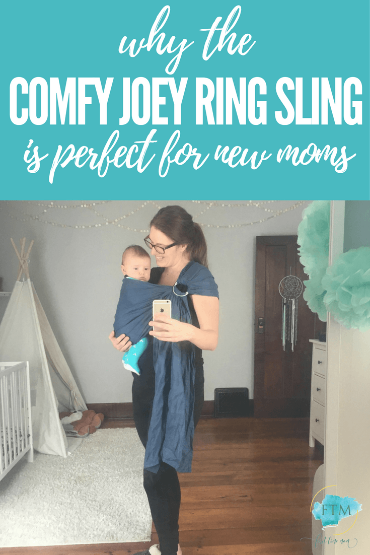 cWhy the Comfy Joey Ring Sling is Perfect for New Moms. #newmom #babyregistry #newborn #babywearing