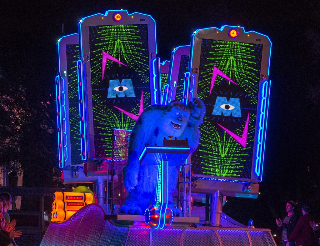 """Paint the Night"" MONSTERS Inc Float, Pixar Fest at Disneyland"
