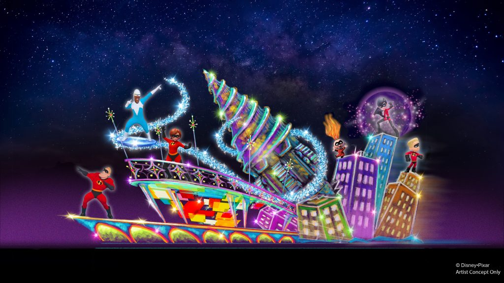Pixar Fest Paint the Night INCREDIBLES Float