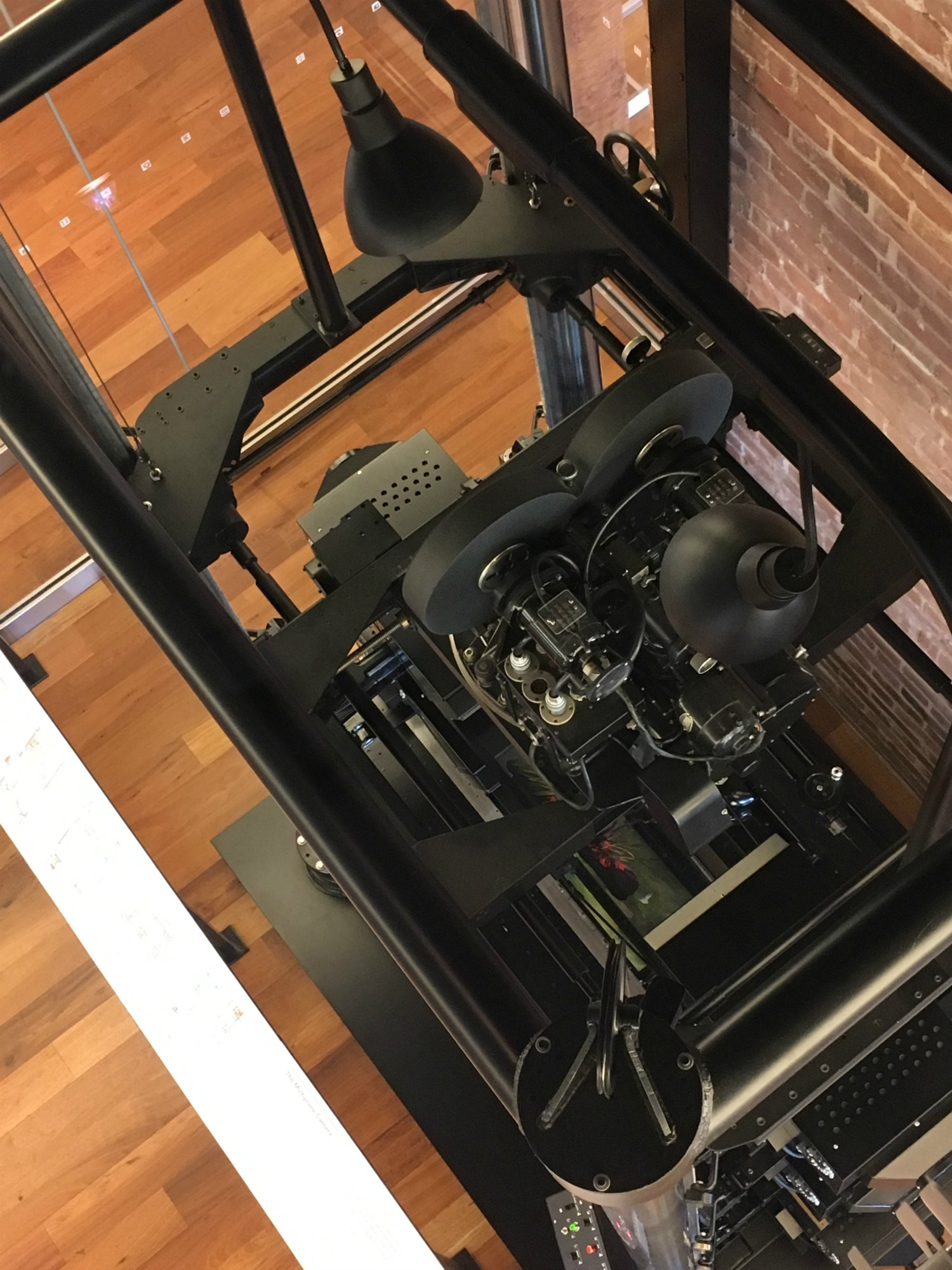 Overhead view of Multiplane Camera at Walt Disney Family Museum