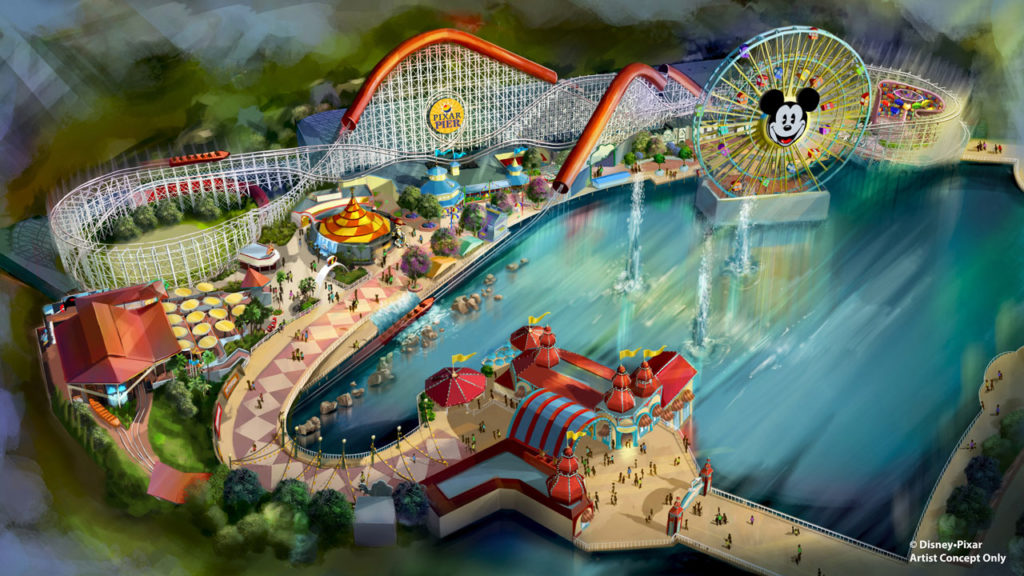 Pixar Pier - New Incredicoaster, Inspired by 'The Incredibles,' at Disney California Adventure Park