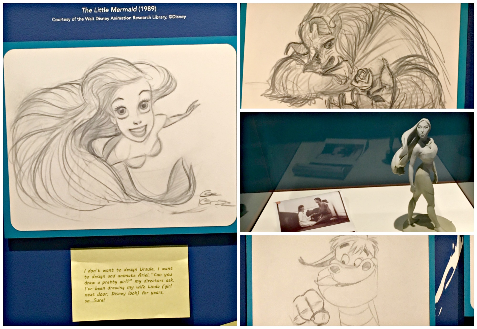 Walt Disney Family Museum Glen Keane Exhibit