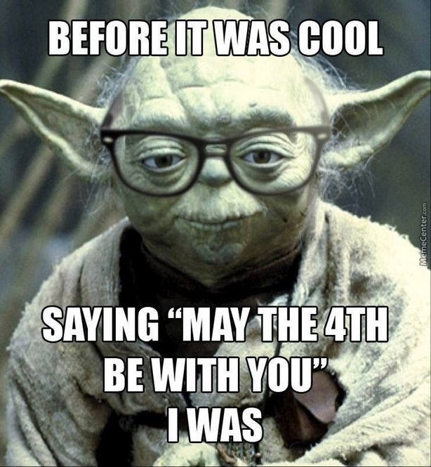 Hipster Yoda May the Fourth Be With You Meme