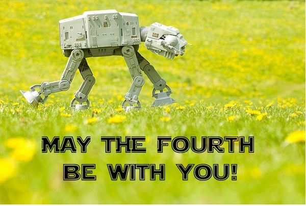 AT-AT running through field, May the Fourth Be With You Meme