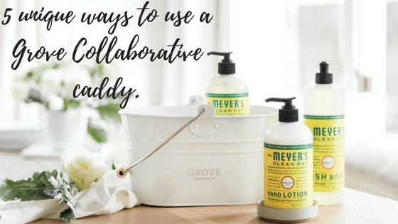 5 unique ways to use a Grove Collaborative caddy. featured