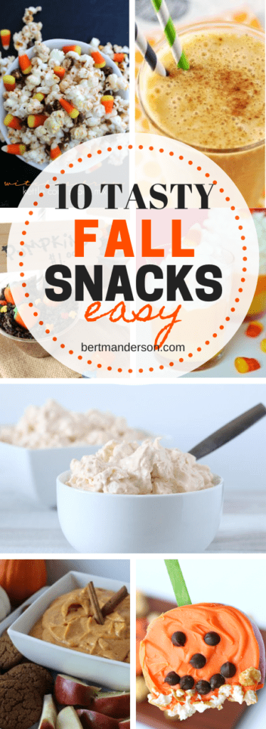 10 tasty, easy fall snacks that you will love. Perfect for entertaining! #snacks #fall
