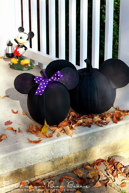 Mickey & Minnie Mouse Painted Pumpkins