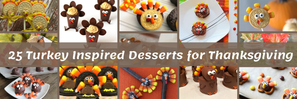 25 Turkey Inspired Desserts for Thanksgiving