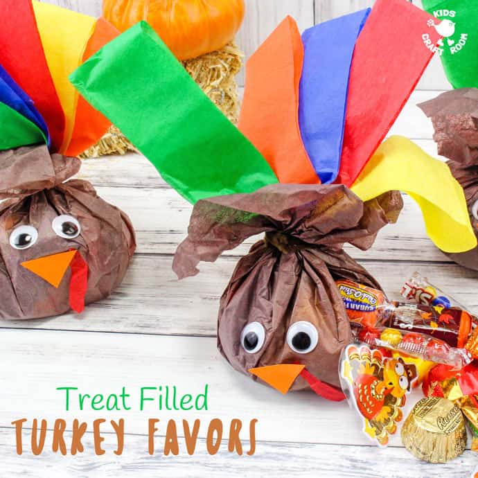 Candy filled Thanksgiving Turkey Favors