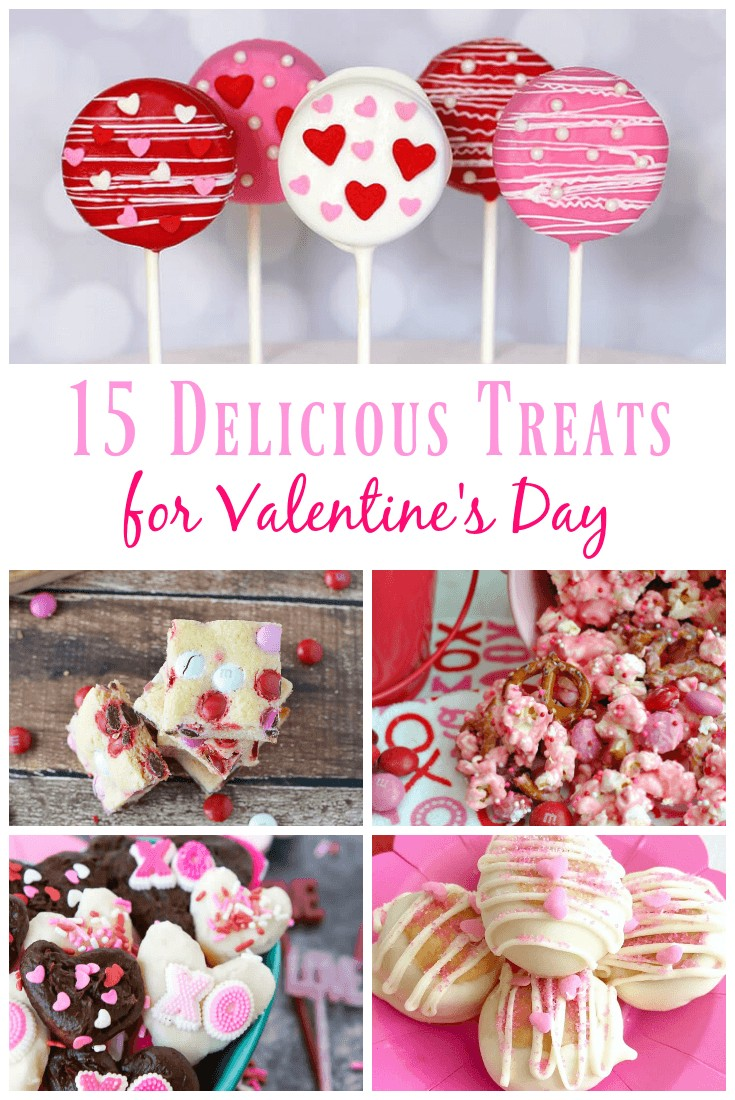 15 Delicious Treats for Valentine's Day. Homemade and easy but still the best looking sweet treats out there! #valentinesday #dessert #recipe #treat