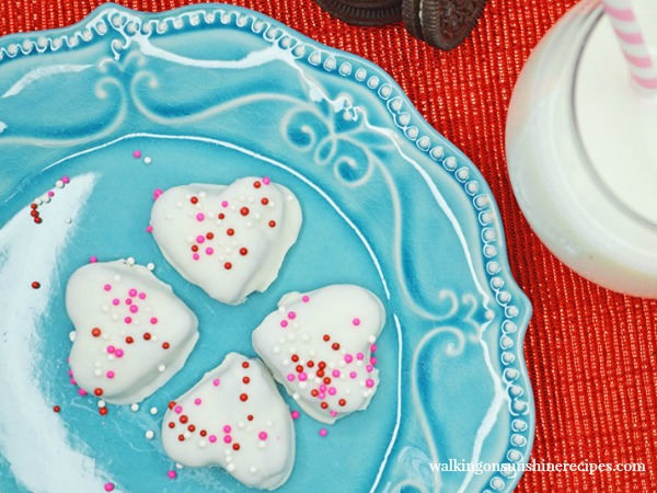 Valentine's Heart Shaped Oreo Truffles