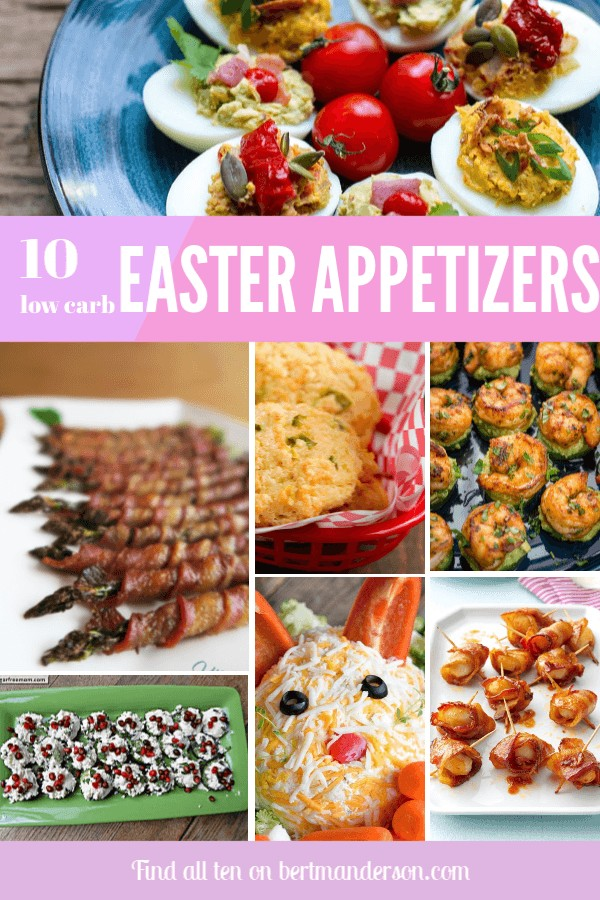 10 Low Carb Easter Appetizers. Easy to make and a great way to stay on plan during the chocolate bunny season. #lowcarb #easter #appetizers #keto #atkins