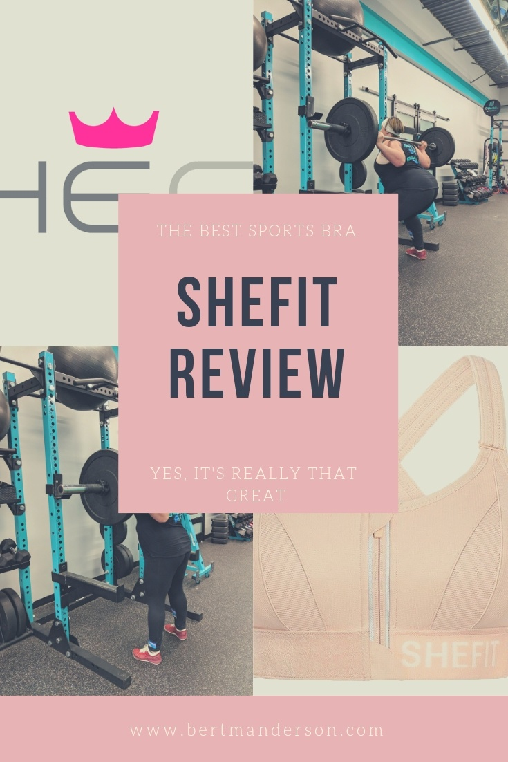 The best sports bra ever, SheFit! If you are well endowed but love to get sweaty read why this is hands down the best bra for you. #fashion #athleticwear #reviews #bra
