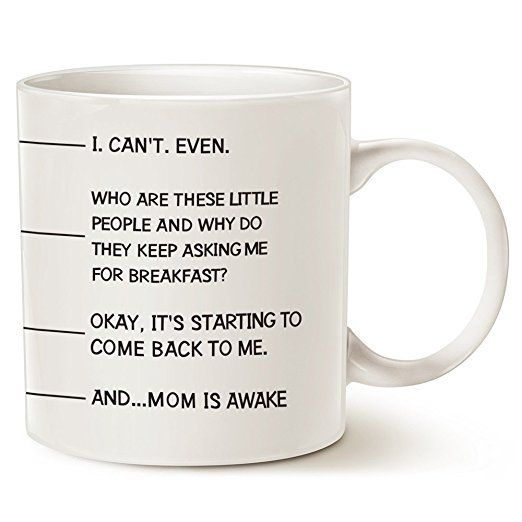 Who are these little people Mom Coffee Mug