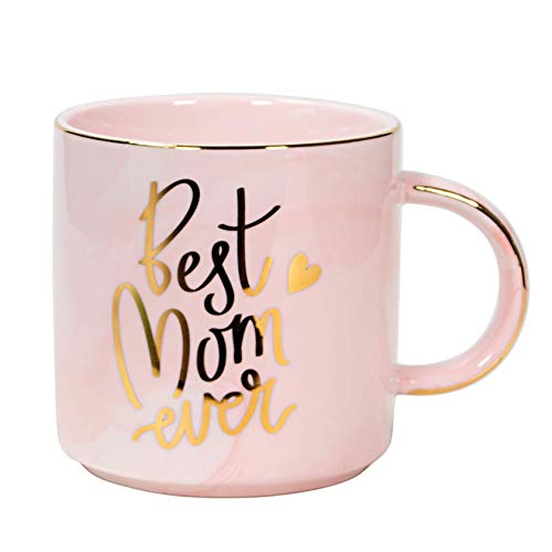 World's best mom pink coffee mugs for mom
