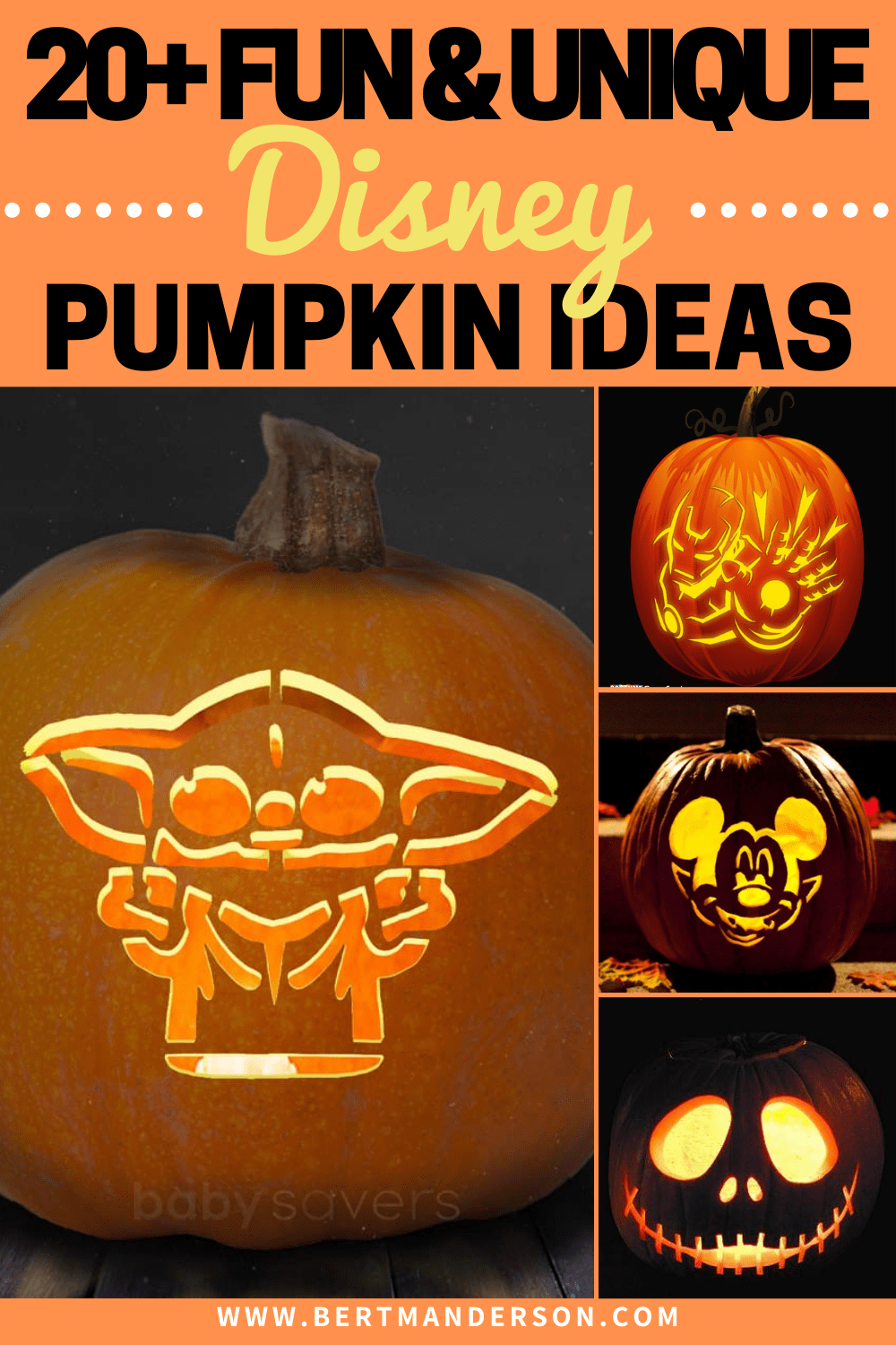 20+ Fun and Unique Disney Pumpkin Carvings