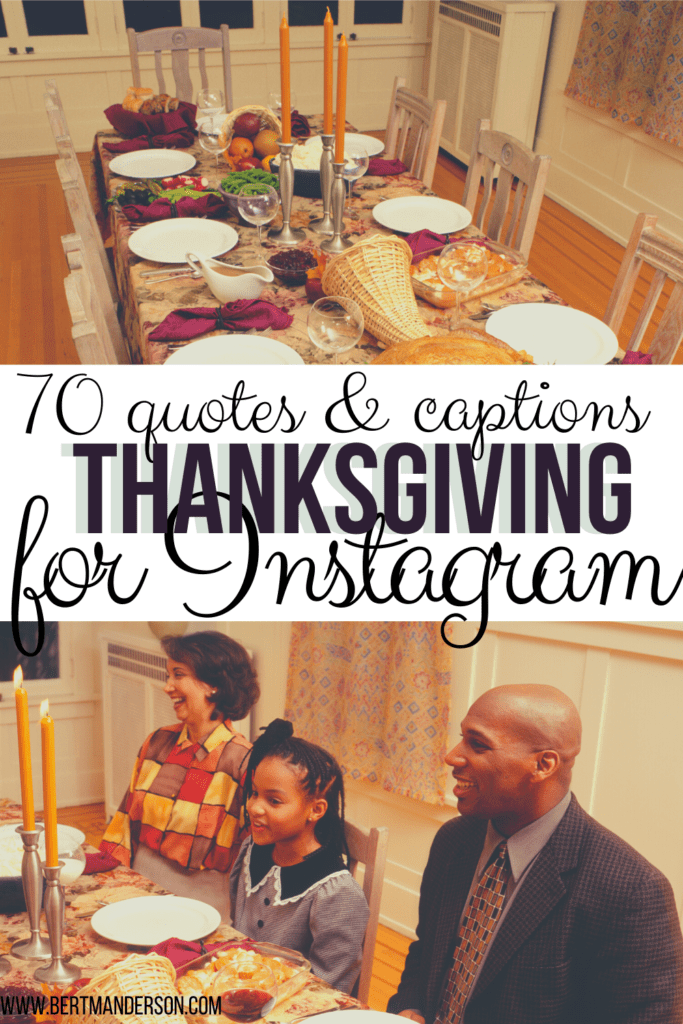 70 quotes & captions about Thanksgiving for Instagram. #thanksgiving #quotes #instagram #Instagramcaptions #Instagramquotes