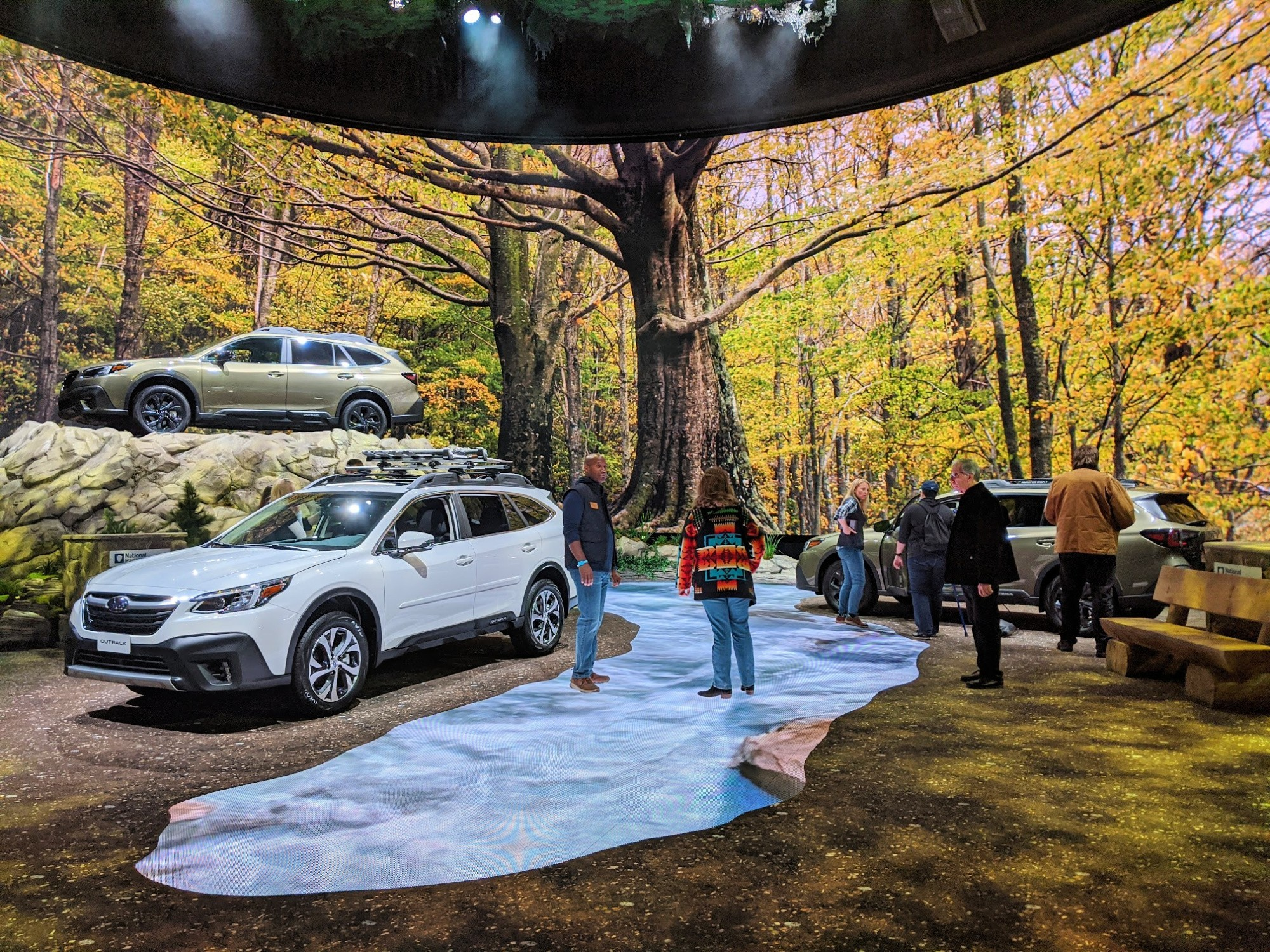 Subaru display at the Chicago Auto Show