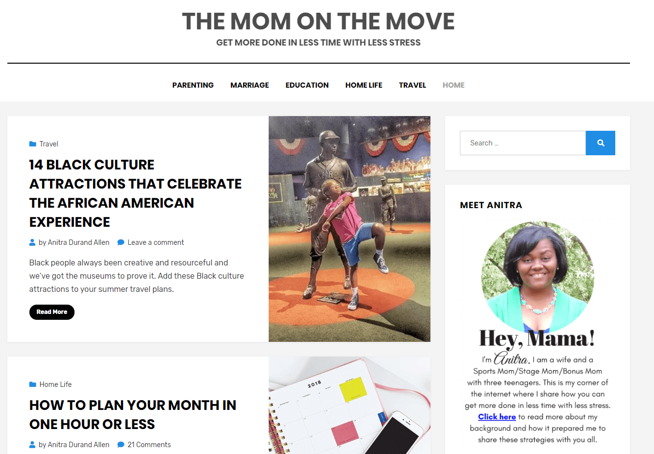 The Mom on the Move Black Voices to follow