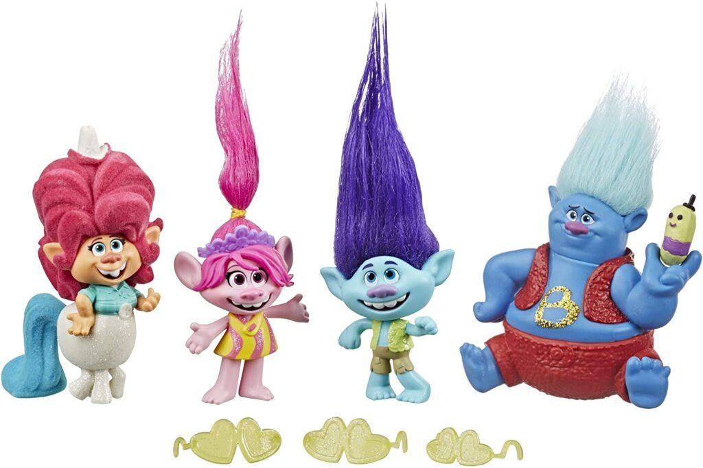 DreamWorks Trolls Lonesome Flats Tour Pack, 5 Small Doll Set Inspired by The Movie Trolls World Tour