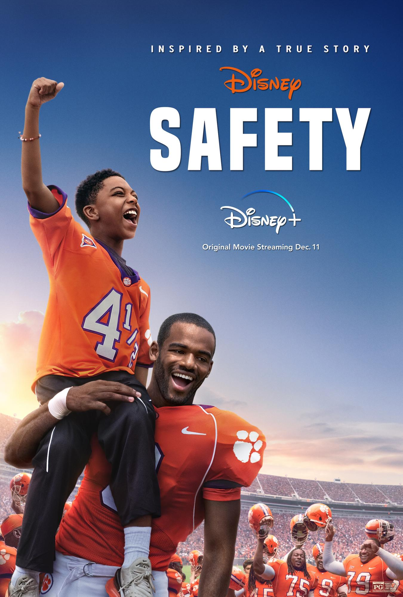Safety movie poster, airs on Disney+