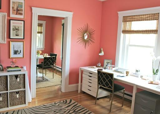 Pink office - How to decorate my home office